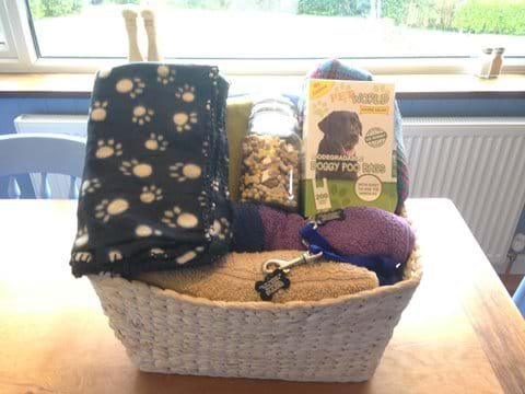 Dog treats, throws,towels and spare leads for you pet
