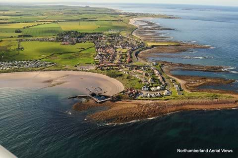 Aerial view of Beadnell