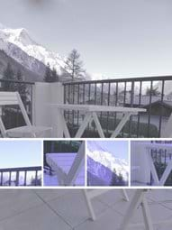 Enjoy Al-Fresco dining on the lounge balcony with stunning views of the Mont Blanc Range