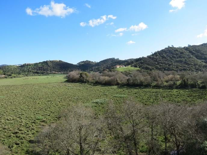 Amoreira Valley with view to Aljezur Castle