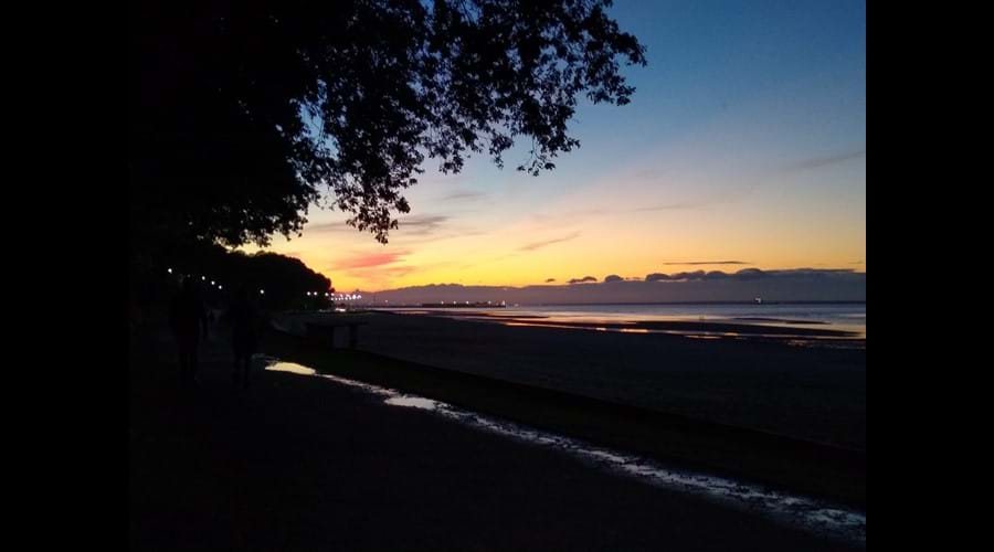 Appley beach at sunset - dog walk all year round here