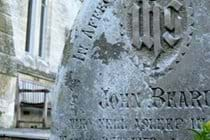 One of the old gravestones