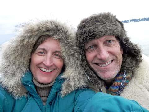 New years Day- Polar Plunge Selfie