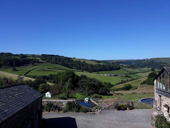 Fantastic countryside view from Nutcombe Barn Juliet Balcony