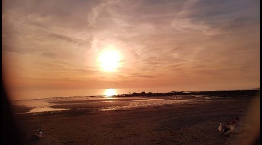 Widemouth Bay at sunset