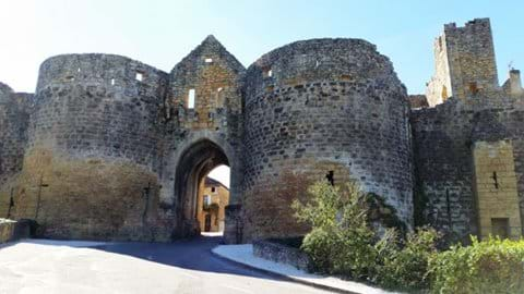 Medieval twin tower entrance to beautiful village Domme