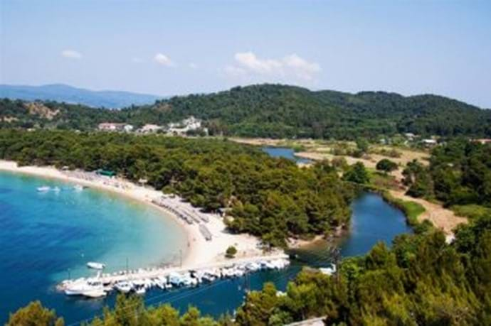 Skiathos - Koukounaries beach (rated Greek no.1, Med. no. 3)