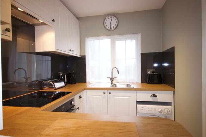 Newly fitted kitchen with everything you need in an holiday cottage.