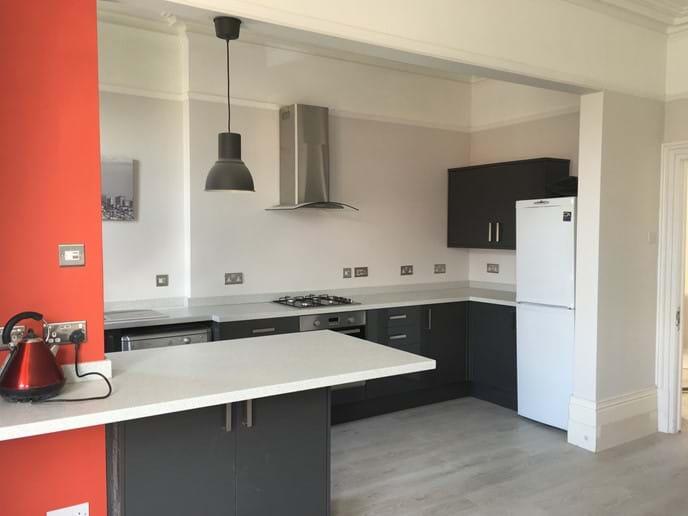 Newly fitted stylish kitchen