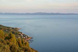 View on the coast. The house is situated in the middle of the coastline next to the village Borak