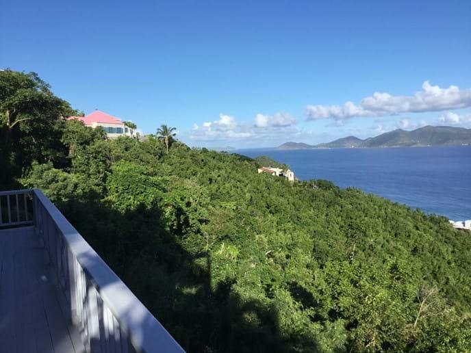 Stunning views out to Jost Van Dyke