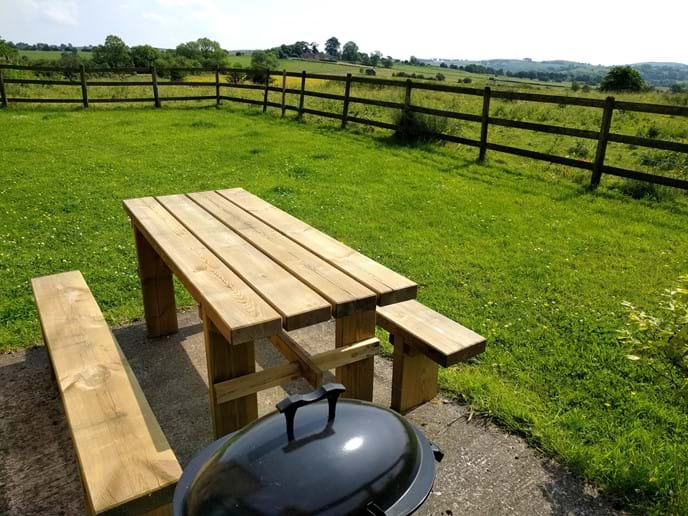 Robin's Garden - With seating and BBQ
