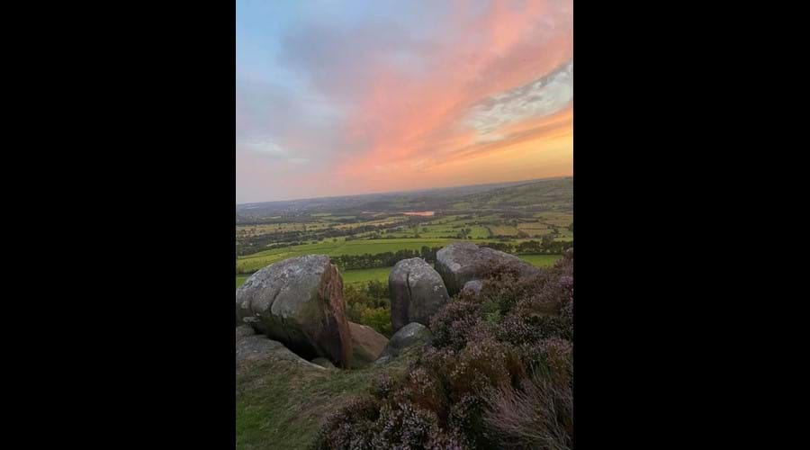 Sunset on Hen Cloud - by Ruth French