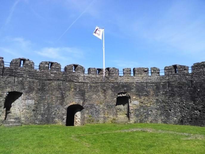 Inside Totnes Castle