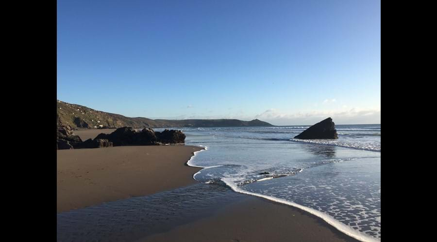 Almost empty beaches at Whitsand Bay
