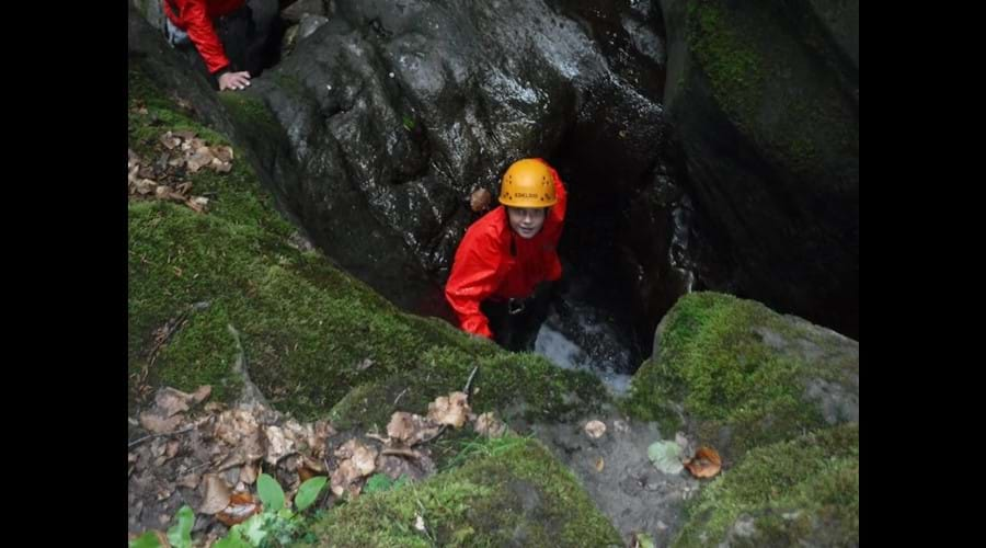 Gorge Scrambling in nearby Clydach Gorge with inspire2adventure