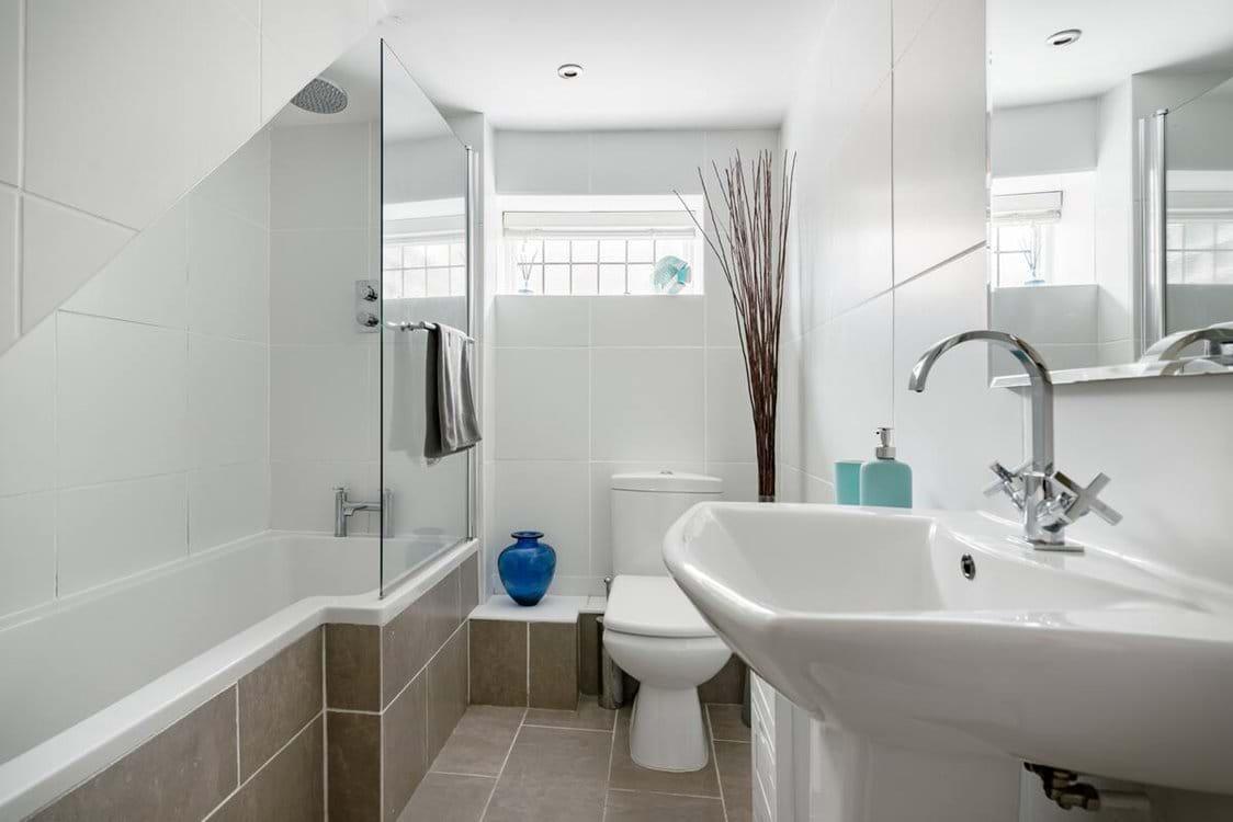 Bathroom with Overhead Rain Shower