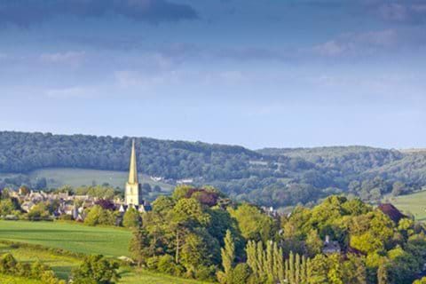 A view of Painswick, a historic