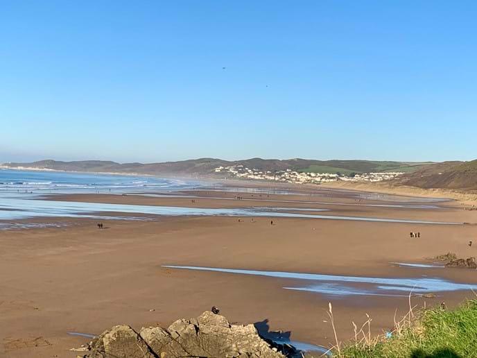View from Putsborough Beach