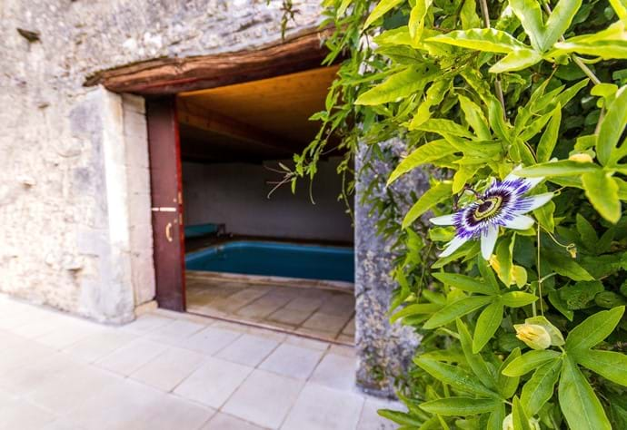 Entrance to pool room
