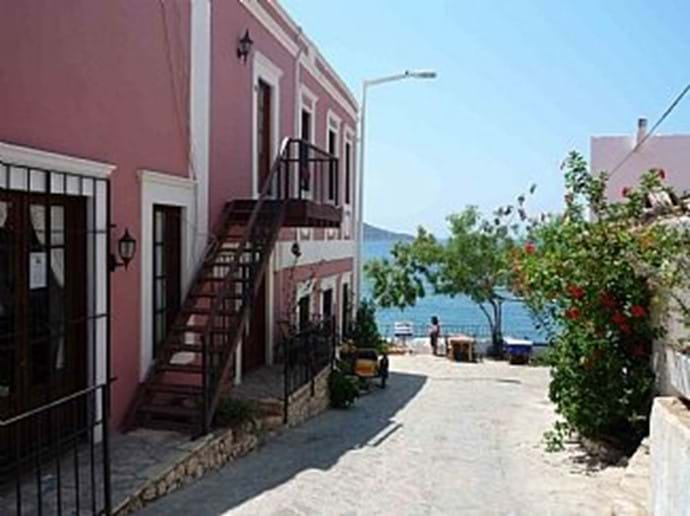 The pink Customs House is an iconic landmark in old Kalkan