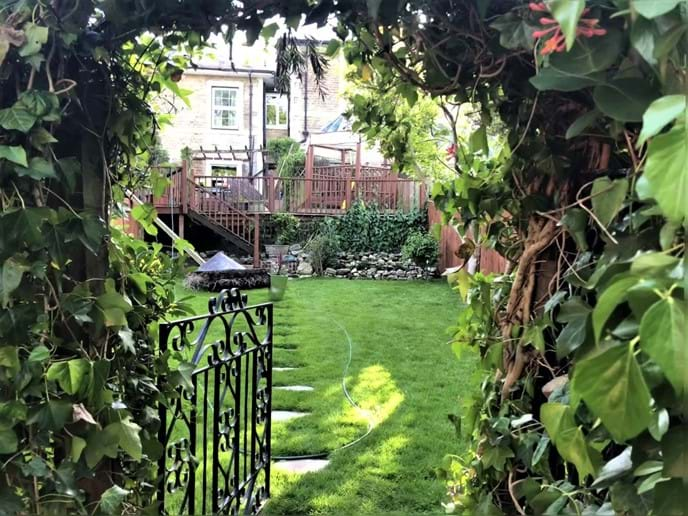 Middle Garden gated off