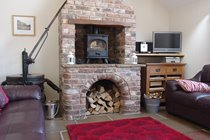 Cosy Living Room with Woodburning Stove
