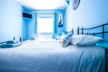 The Blue Room - a great sized twin room with full sized single beds!
