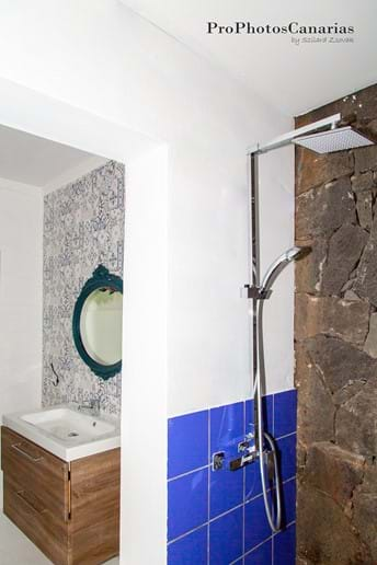 walk in shower next to the bathroom