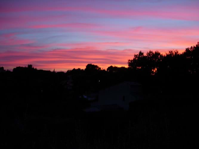 Sunset over the village of Flayosc
