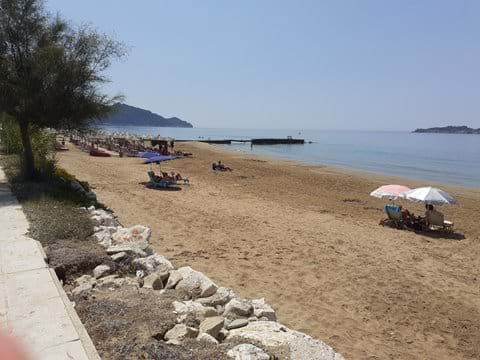 Arillas beach July 23 2020 before the build up of the tourist season