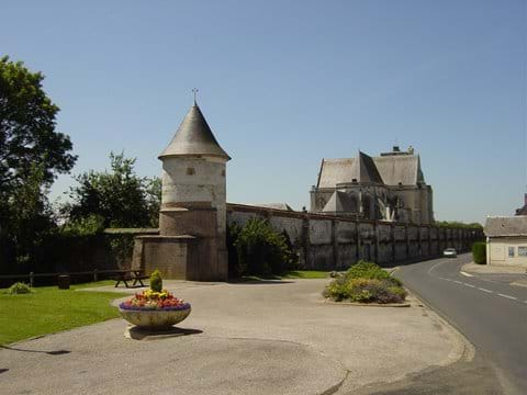 The Abbey walls at St Riquier