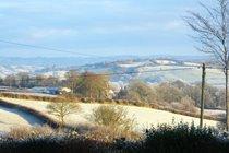 Frosty morning view from Winllan Farm