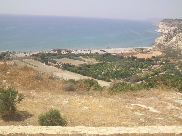 View from the Ruins to Kourion Beach.