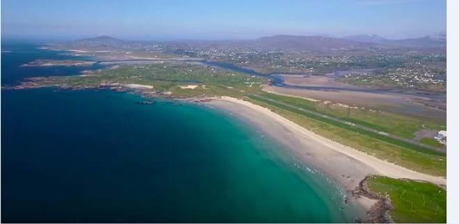 Carrickfinn Airport and blue flag beach