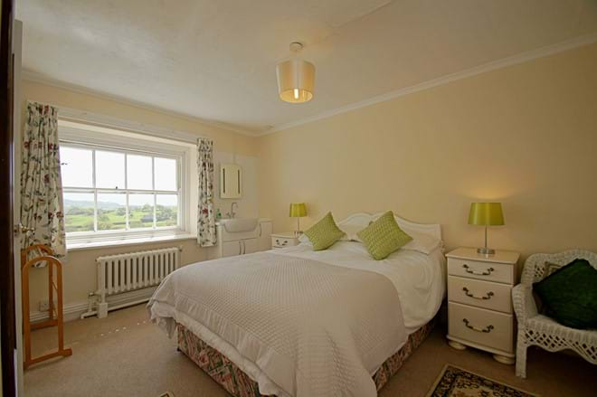 double bedroom with stunning views at Ty Mawr family holiday cottage between Criccieth and Porthmadog