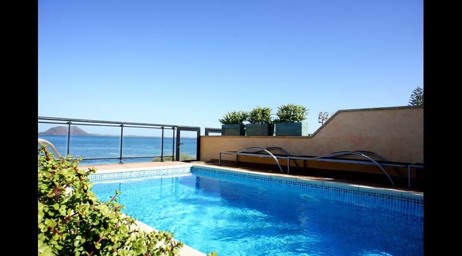 Private heated pool