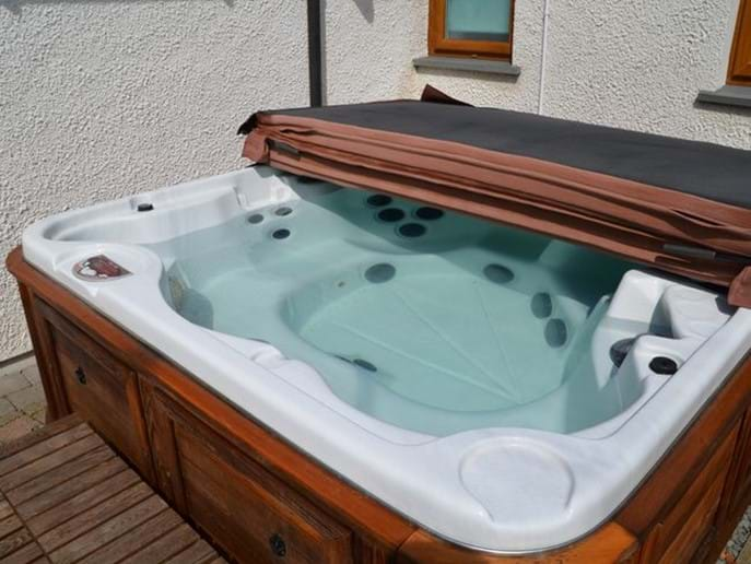 private hot tub for your exclusive use at riverside cottage