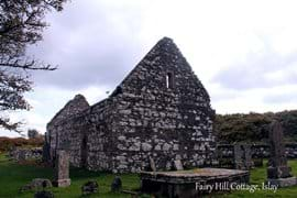 The Kildalton Chapel and Cross are a short walk from Fairy Hill Cottage along a single track road surrounded by nature.