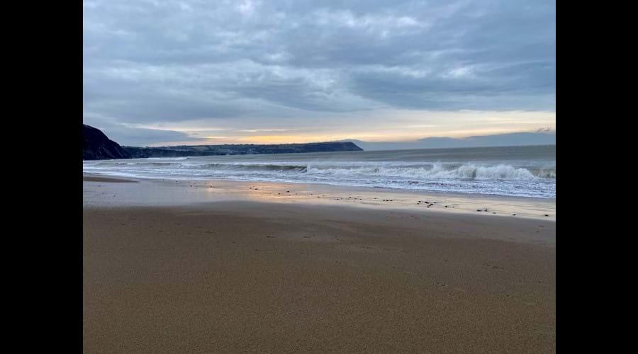 Love an early morning walk on Penbryn Beach