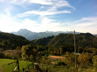 Stunning views of the Apuan Alps from your holiday cottage in Tuscany.