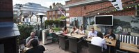 Al fresco dining in one of the many restaurants in Wimbledon