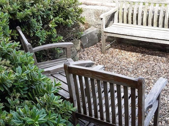 There is a small enclosed garden at the rear of the cottage - a great place to enjoy a glass of wine and take in the beautiful sea view