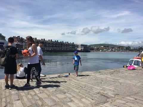 Crabbing on the Quay