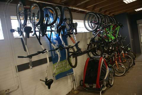 Choice of tagalongs, child bikes and chariots