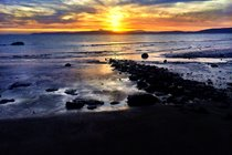 Sunset from Blackwaterfoot beach