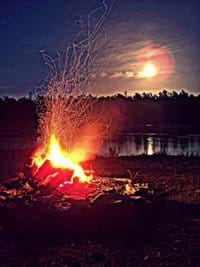 Campfire and the Super moon that occured in May 2012