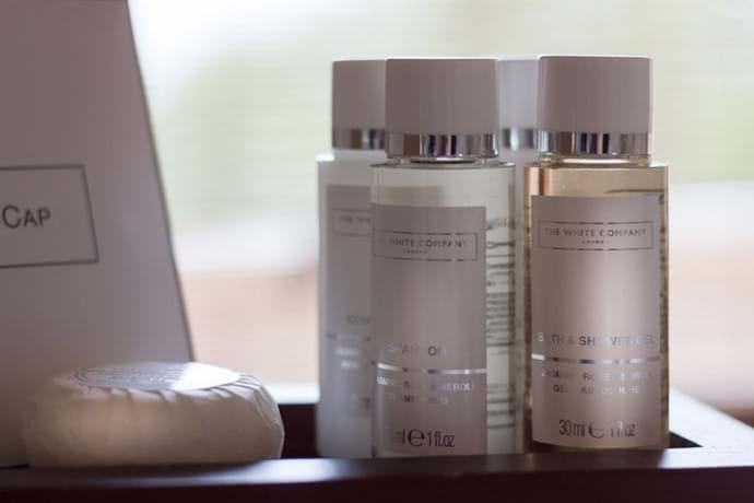 Complimentary White Company Toiletries