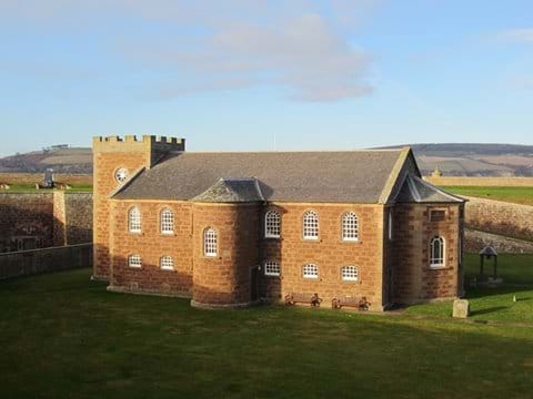 Fort George, within walking distance of Dolphin View Cottage.