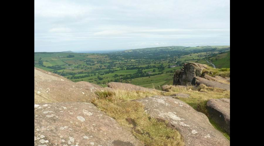 Views across Staffordshire from Hen Cloud